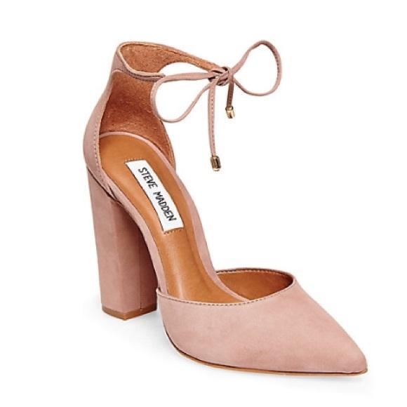 e41ff5eebb1 Steve Madden PAMPERD heel in Blush Nubuck